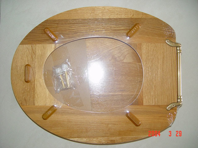 China Solid Wood Toilet Seat Oak Toilet Seat Hardwood